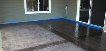 Re-Dying Decorative Stamped Concrete   Clean-Coat